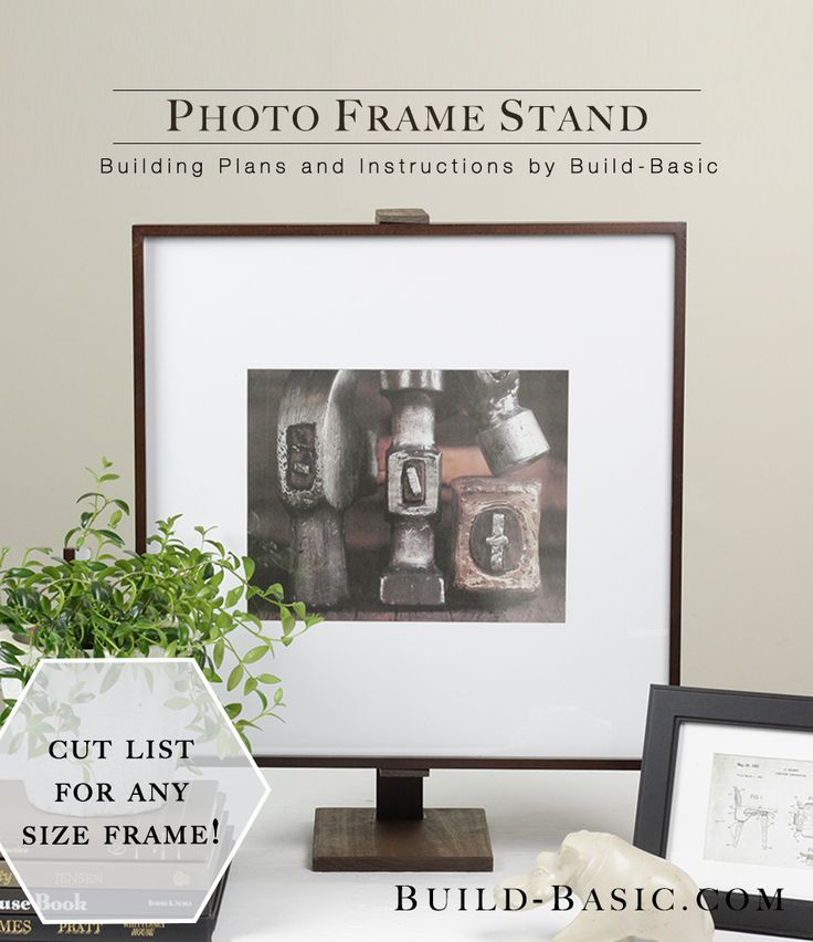 Elevate the look of a basic photo frame by mounting it inside this classy  stand.