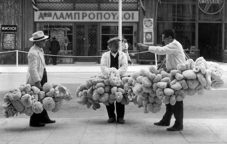 sponge vendors, Athens