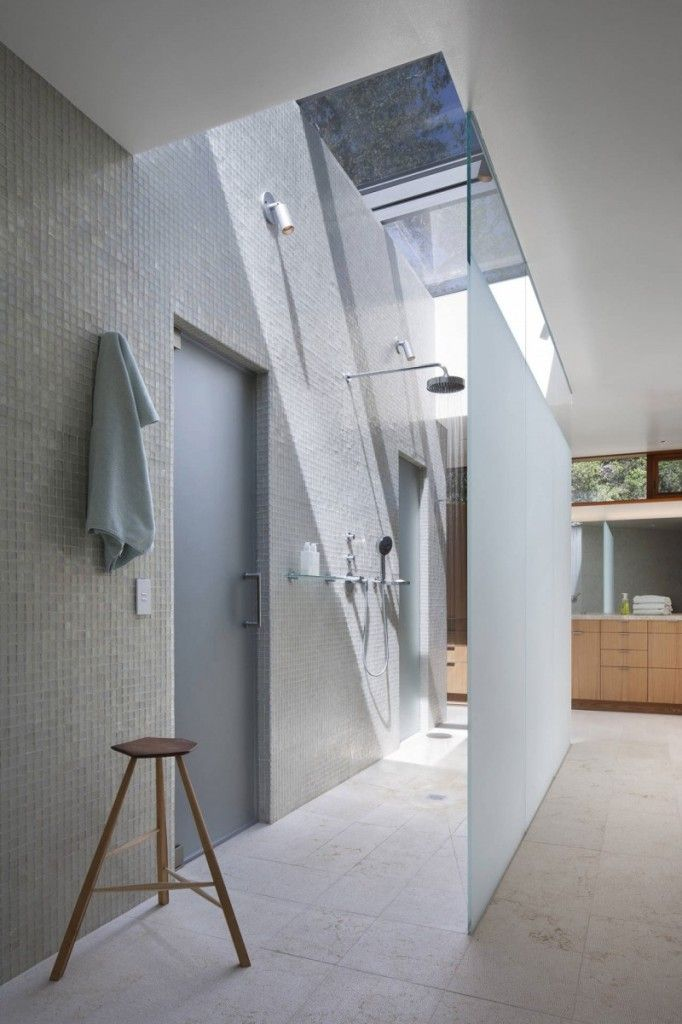 simple and clean shower design from kentfield hillside residence turnbull griffin haesloop architects
