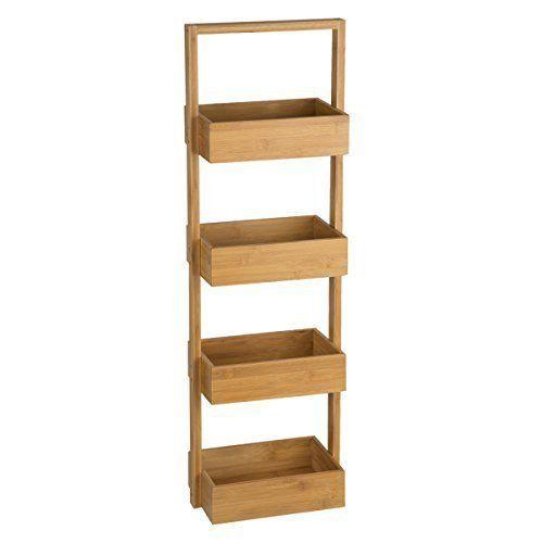 meuble rangement 4 paniers en bambou idal pour la salle de bain cet article meuble