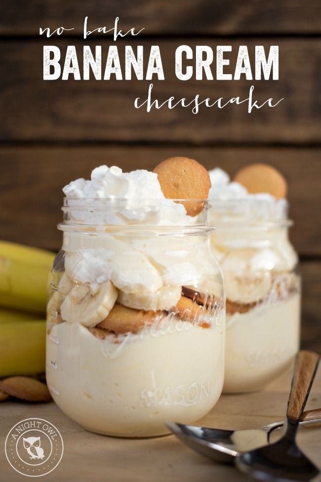No Bake Banana Cream Cheesecake - a delicious no-fuss, easy dessert that will have you enjoying your favorite Banana Cream Pie flavors in just minutes!