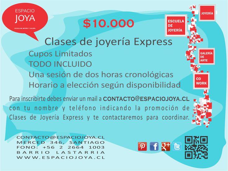 $10.000 - Primera promoción de estos días: Clase de Joyería Express, Todo Incluido... Escríbenos pronto, cupos limitados.