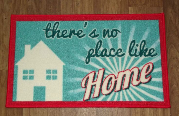 Blue red White shabby chic 'There is No Place Like Home' WASHABLE DOOR MAT in Home, Furniture & DIY, Rugs & Carpets, Door Mats & Floor Mats | eBay