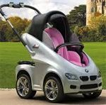 BMW kindly made a rare and magnificent stroller for the royal baby. It has a sophisticated style and is beautifully lightweight. It could be the cheapest set of brand new BMW wheels yet!  Still want to make a Pramskin for one!