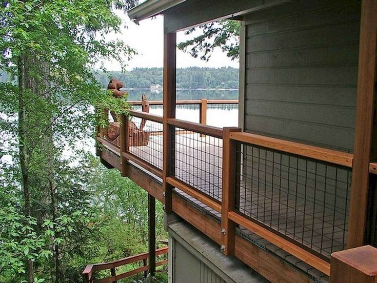 50 Awesome Deck Railing Ideas For Your Home Wire Deck