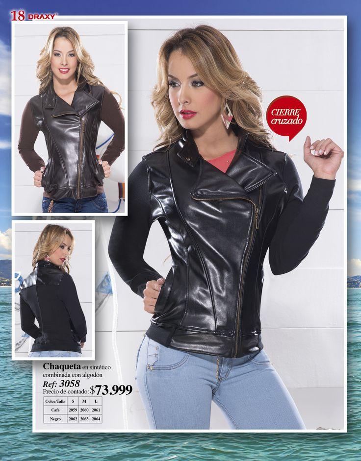 Chaqueta en Sintetico 3058 http://draxycatalogo.com/draxy_ultima_moda/productos/producto/02107