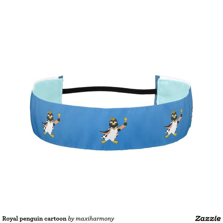 Royal penguin cartoon athletic headbands