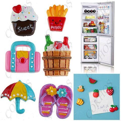 Plaj Temalı Sevimli Buzdolabı Magnetleri 6 Adet