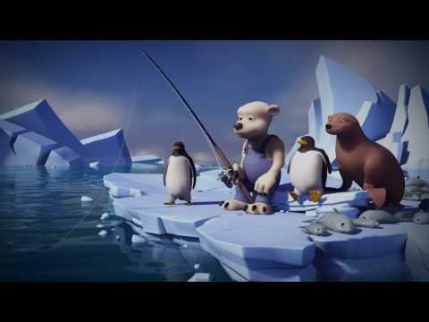 MovieTalk - los pingüinos, la foca, el oso polar, pesca, los pescados/los peces, Hace frío Nieve Hielo El agua/El océano Nadan Saltan Grande Pequeño Mediano Come Se ríe Roba Está triste Tiene hambre La foca Eructa Tiene una idea Le da una patada Le pega La nariz