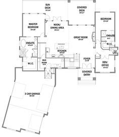 One Story Bungalow Floor Plans | First Floor Plan of Bungalow House Plan 81106
