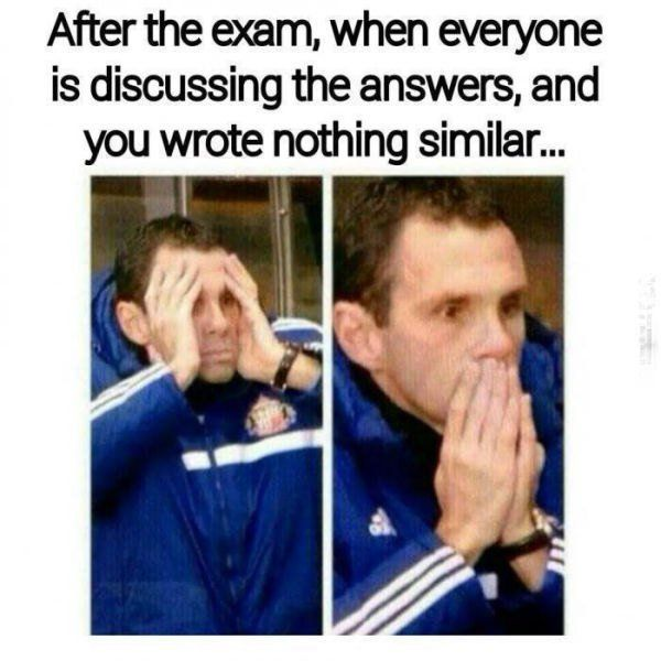 Funny Memes Exam : Accurate final exam memes gallery the lion s den