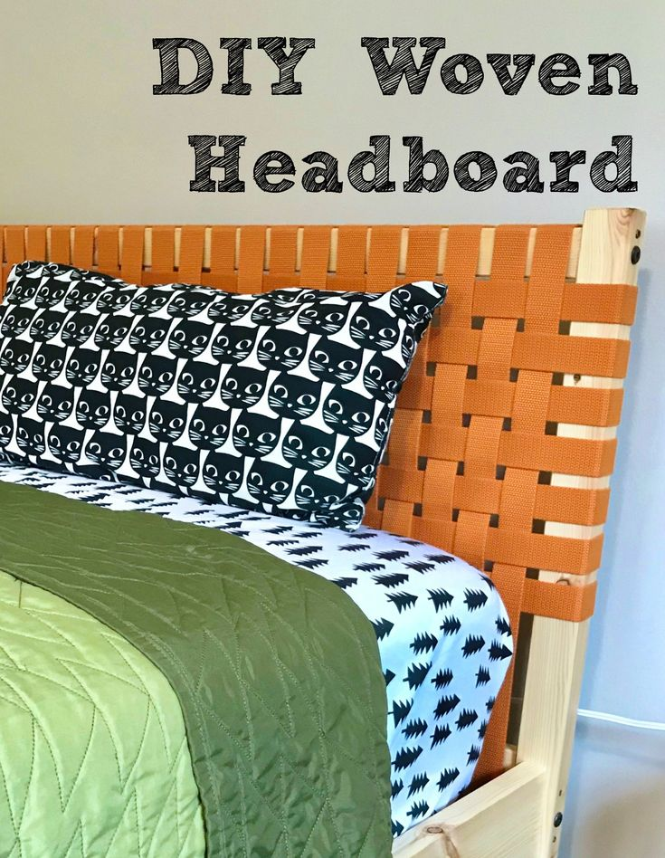 DIY Woven Canvas Headboard Diy leather headboard