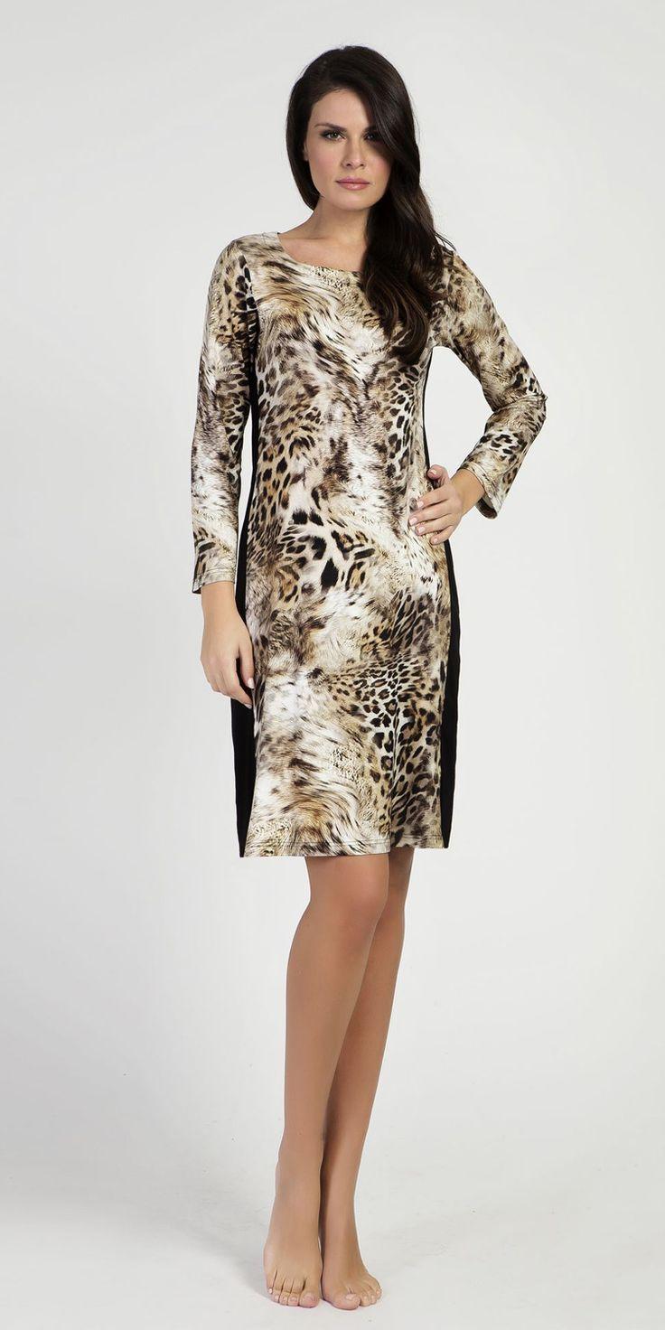 Homewear Dress 95% Viscose 5% Elastane | Loungewear| Vamp! Homewear Dress 95% Viscose 5% Elastane 5306