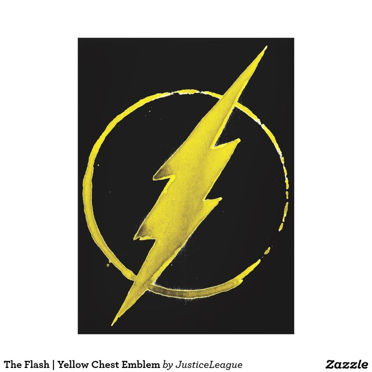 Vintage The Flash Yellow Chest Emblem Canvas Print