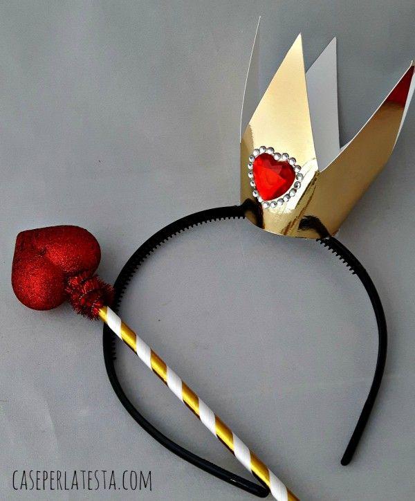 Regina di Cuori e Coniglio Bianco props * DIY Queen of Hearts and White Rabbit props