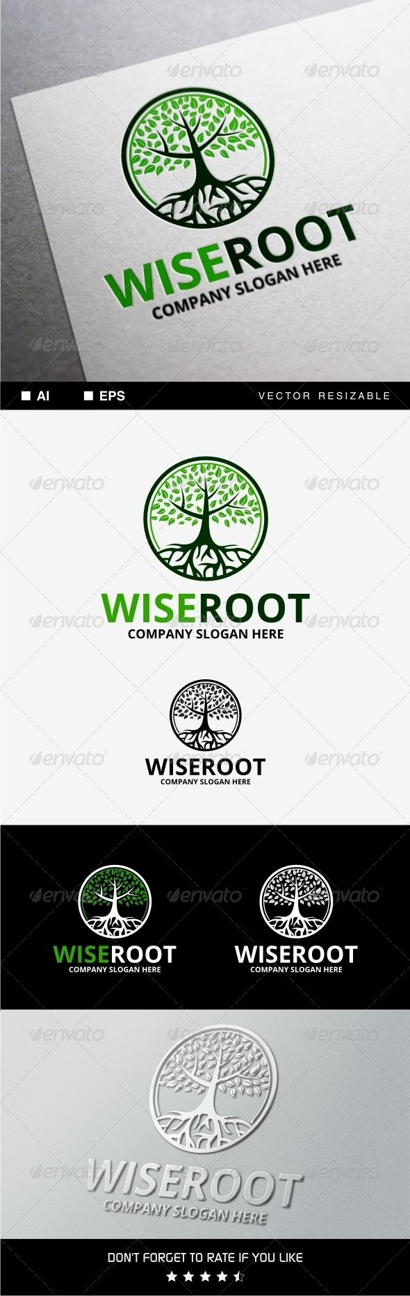 Wise Root Logo • Available here → http://graphicriver.net/item/wise-root-logo/8328946?s_rank=92&ref=pxcr
