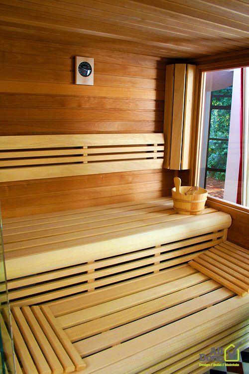 Sauna room - refurbishment in North London. High end architecture. Residential project with sauna, gym, home theatre... Please click onto the picture to check the whole project