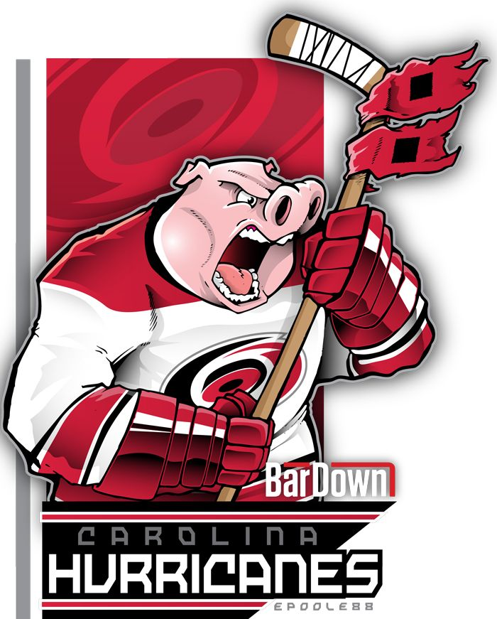 BarDown: NHL cartoon mascots: metropolitan division
