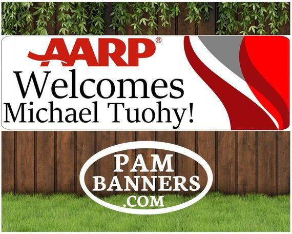 Large Aarp Welcome Banner And Signs 6x2 With Grommets In 2020 Personalized Birthday Banners Welcome Banner Banners Signs