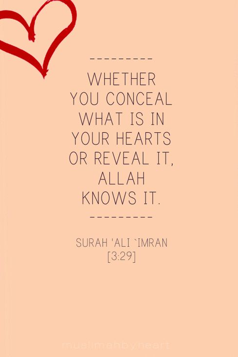 "Say, ""Whether you conceal what is in your breasts or reveal it, Allah knows it. And He knows that which is in the heavens and that which is on the earth. And Allah is over all things competent."