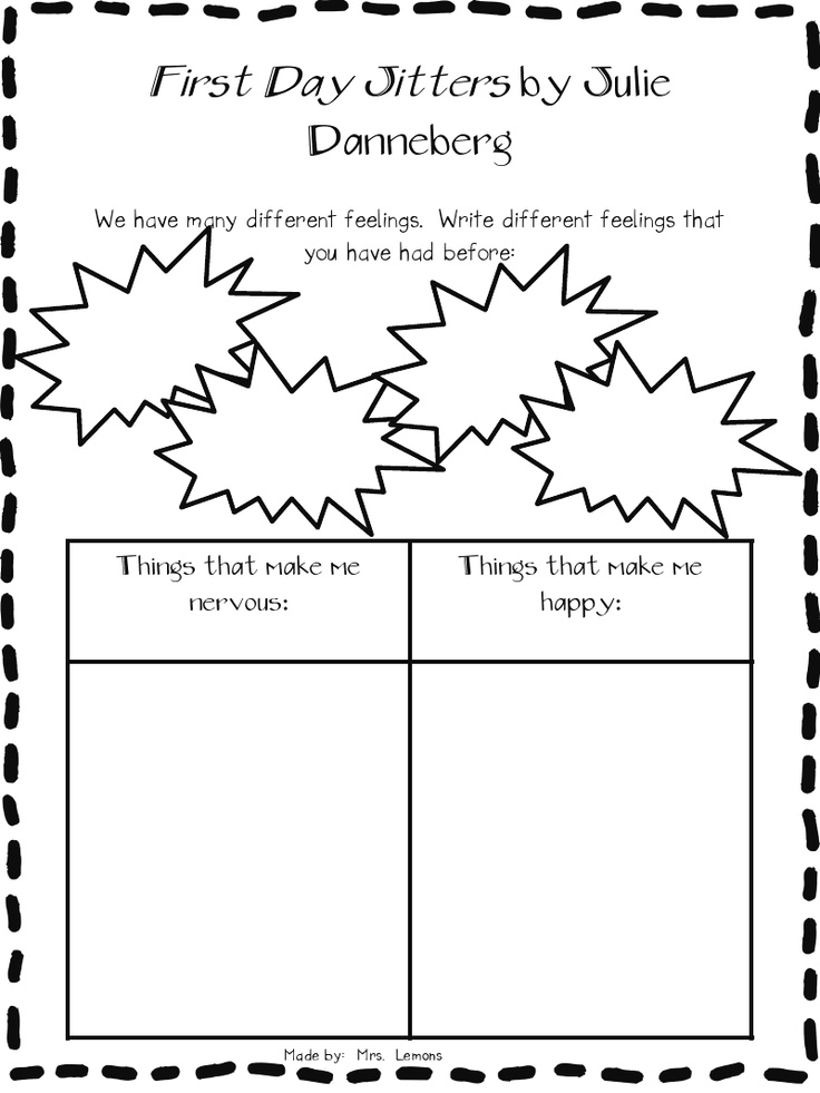 25 best first day jitters ideas on pinterest 1st day of for First day jitters coloring page