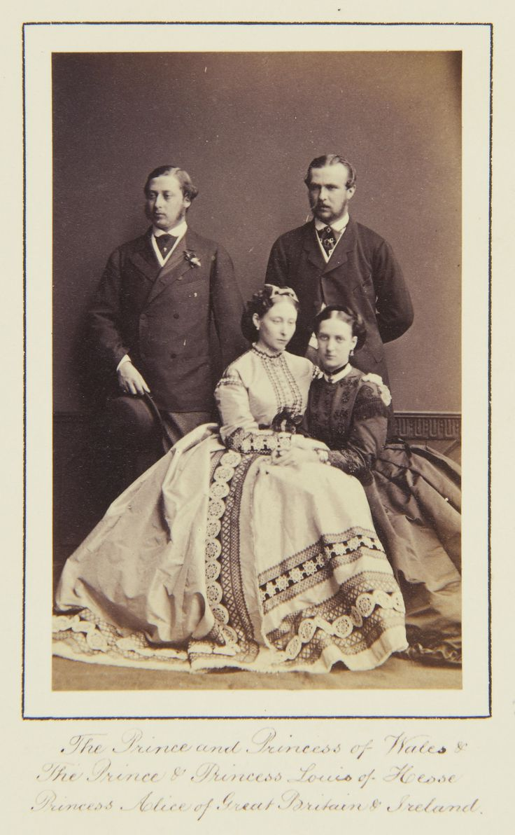 The Prince and Princess of Wales, and Prince and Princess Louis of Hesse, 1864 [in Portraits of Royal Children Vol.8 1864-1865] | Royal Coll...