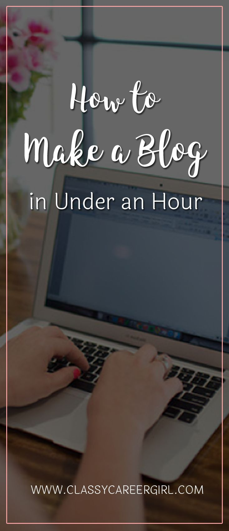 How to Make a Blog in Under an Hour  It's really not that hard to make a blog. Website stuff is where many people get stuck because they think creating a website is too overwhelming and time consuming. It's actually pretty simple. I taught myself a few years back and continue to design, create and modify websites myself too!   Read More: http://www.classycareergirl.com/2016/01/make-a-blog/