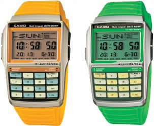 Colorful Casio Databank Watches
