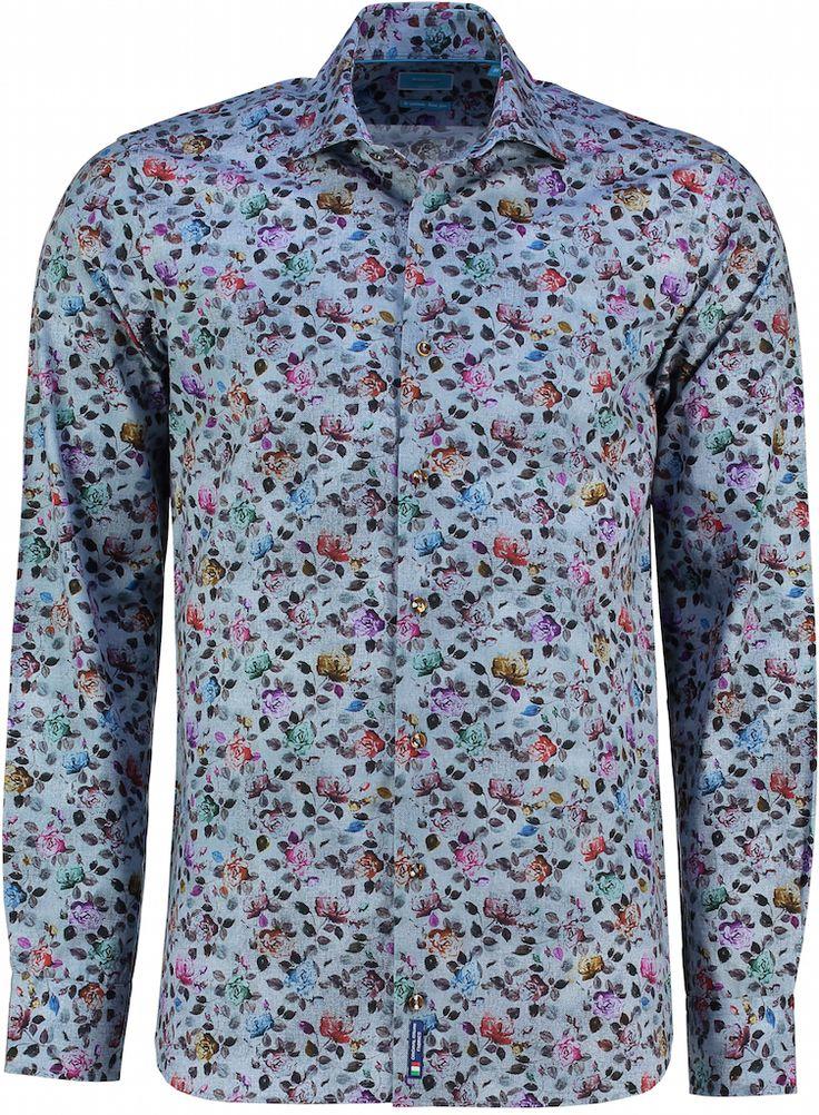 Nieuw: #overhemden van British Indigo. Zoals deze Tutti Colore rozen print: https://www.shirtsupplier.nl/nl/overhemden/british-indigo-tutti-colore-rozen-overhemd-met-bruine-knopen #britishindigo