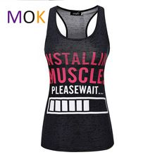Installing Muscles Please Wait. Funny women's workout tank top. Burnout tank.Lifting Shirt. Workout clothing. Fitness apparel(China (Mainland))
