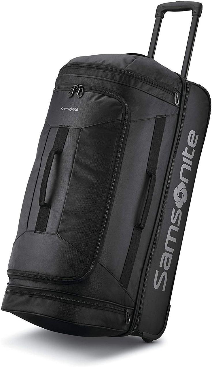 Samsonite Andante 2 Drop Bottom Wheeled Rolling Duffel Bag All Black 28 Inch Bags Duffel Bag Duffel
