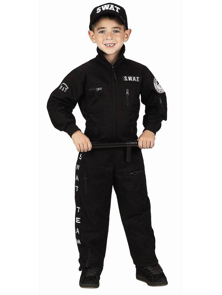 Childs Junior SWAT Costume   Boys Police Halloween Costumes