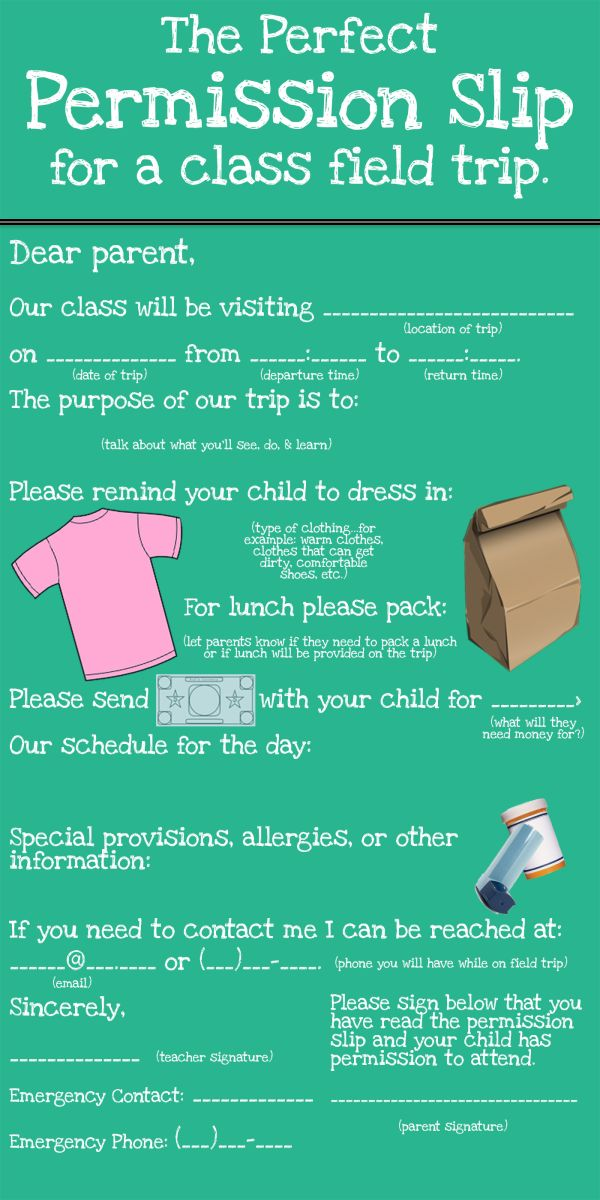 Best  Field Trip Permission Slip Ideas On   Teacher