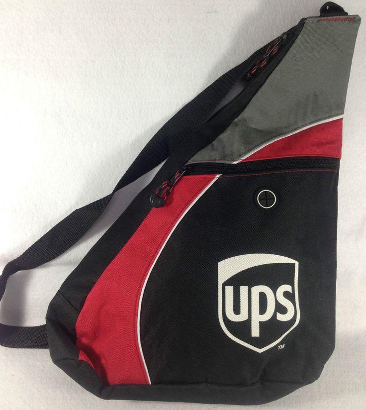 Leeds UPS United Parcel Service Shoulder Sling Backpack Messenger Bag Black Red #Leeds #MessengerShoulderBag