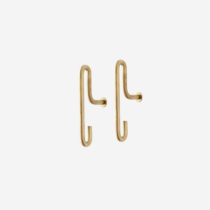 Rikiki Grafik Produkt Garderobenhaken Hook Brass Small Set Of 2 In 2020 Garderobenhaken Wandhaken Haken