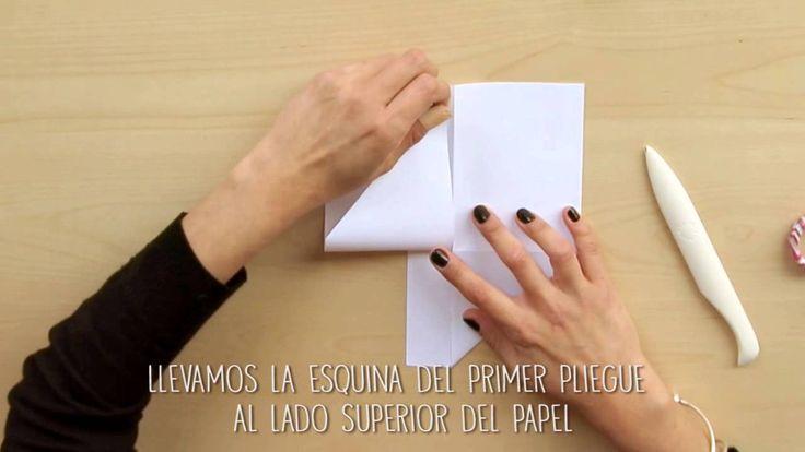 Vídeo manualidades: bolsillos de papel paso a paso | Anita y su mundo sc...
