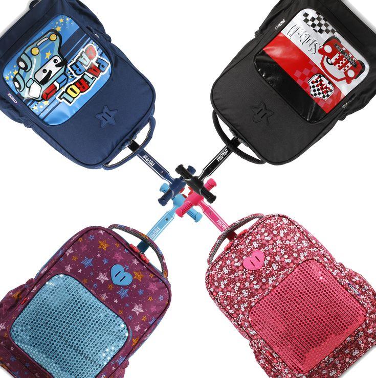Kids' favorite rolling backpack 💙  Shop SPARKLE! #JWorldNewYork #bag #kids #kidsbag #rollingbackpack #kidsstyle #shop #kidsgift