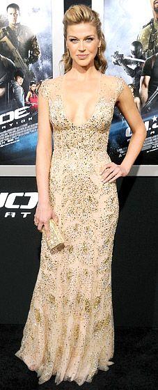 Adrianne Palicki in Reem Acra - G.I. Joe - Retaliation Premiere - March 28, 2013