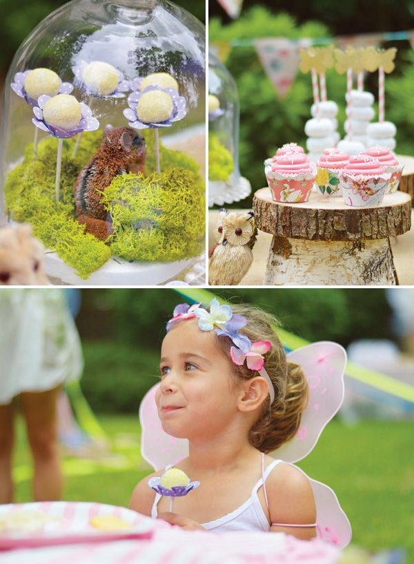 flower cake pops...Enchanted Garden Fairy Birthday Party