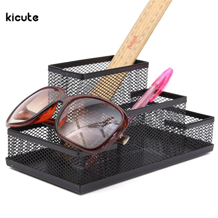 Mesh Cube Metal Stand Combination Holder Desk Desktop Accessories Stationery Organizer Pen Pencil Office Supplies Study Storage