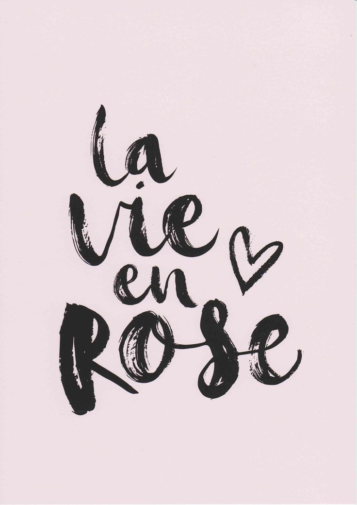 FIVER FRIDAY La Vie En Rose Print French Prints Girls Room Decor Pink Wall Art Typography Print French Quote Art Girl Wall Art Fashion Print
