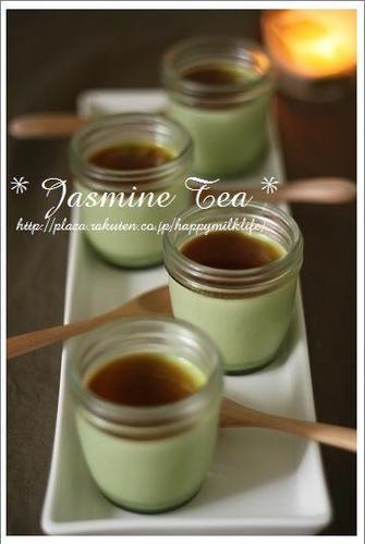 Matcha Pudding with Green Tea♪