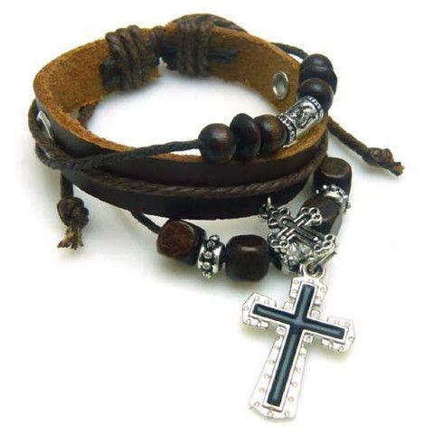 Cross Multilayer Bracelet