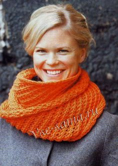 Оранжевый шарф-труба
