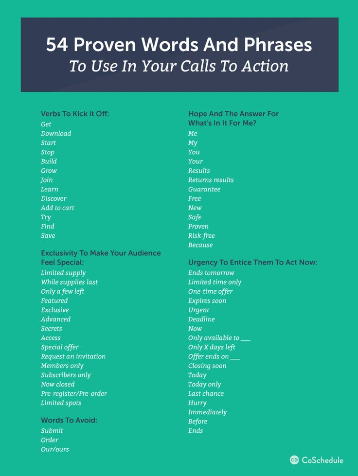 183 best ux copywriting images on pinterest inbound marketing 54 proven words phrases to convert more website visitors to customers infographic fandeluxe Choice Image