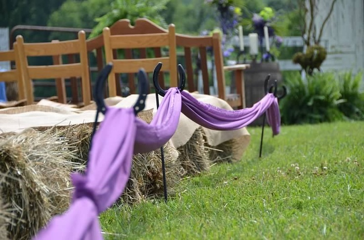 Country Wedding  Horseshoe decorations    Amber S. Wallace Photography