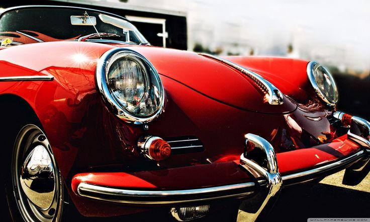 Red Old Porsche HD Widescreen Classic Car Wallpaper