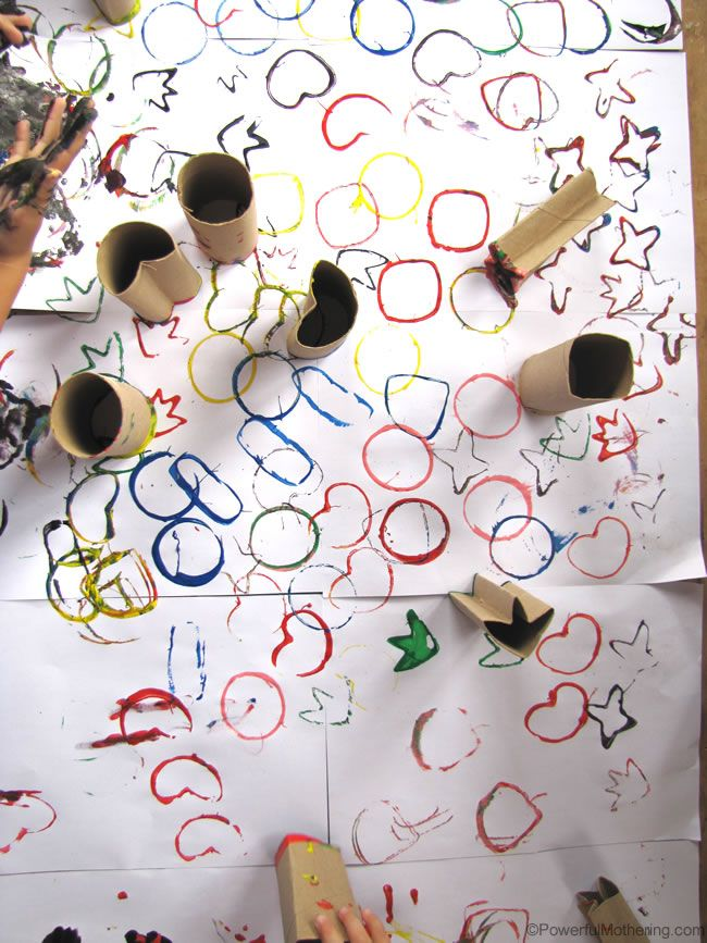 great way to use up those tp rolls or any tubes you have from the kitchen! Creative art and pattern exploring!