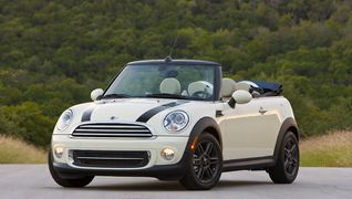White Convertible Mini Cooper!