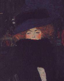"""Gustav Klimt  :  """" La Dame au Boa de Plumes"""" - 1909  - (c) Musee du Belvedere - Vienne"""